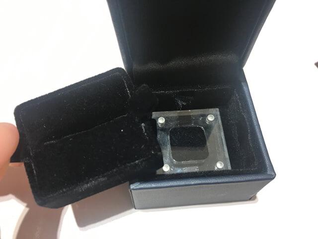 トレセンテ体験レポプロポーズリング箱
