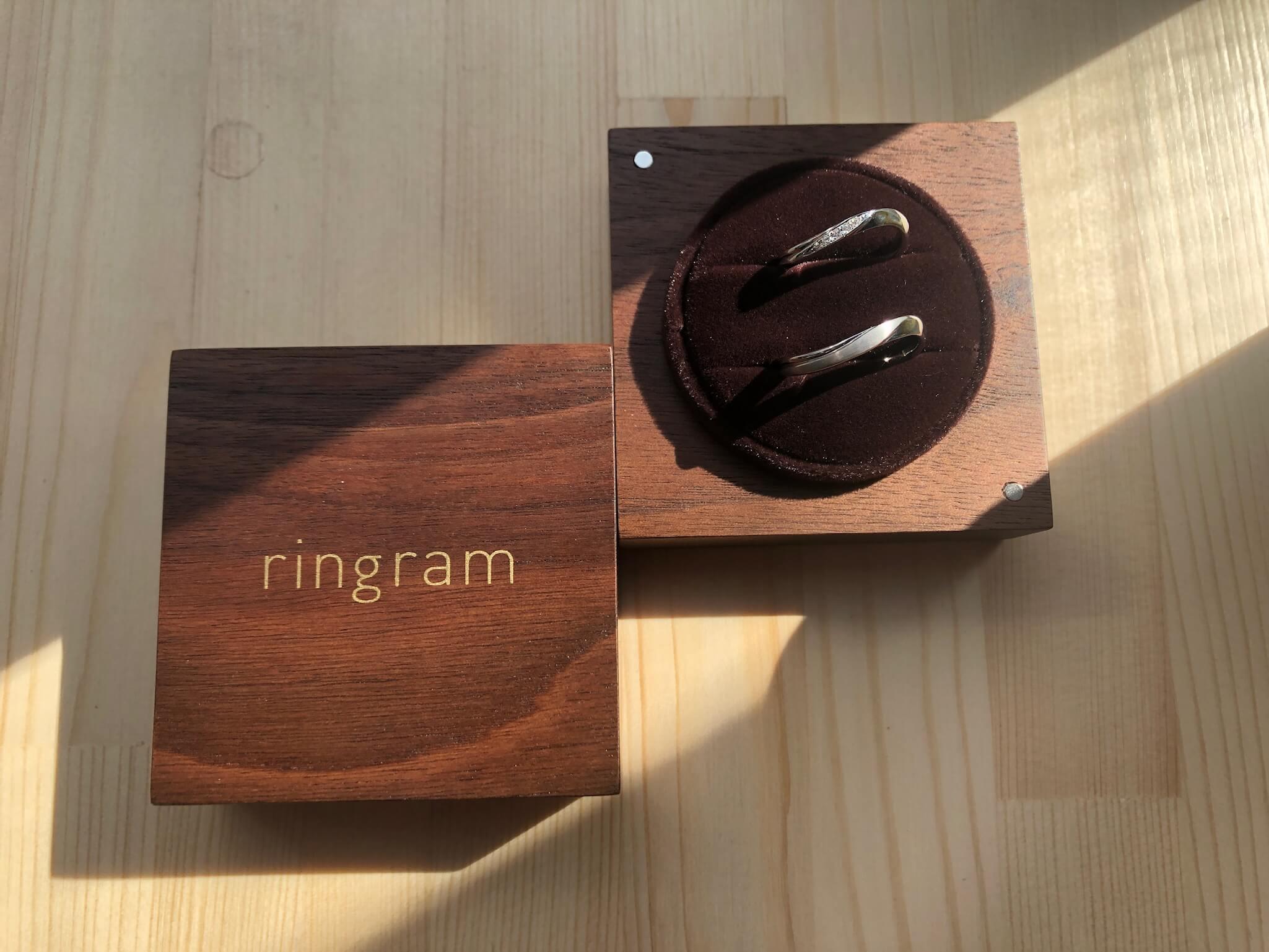 リングラム体験レポ木製ケース