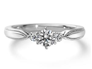 エクセルコダイヤモンド婚約指輪エリザベート正面