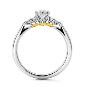 エクセルコダイヤモンド婚約指輪アンサンブル横