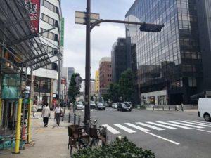 ルシアクリニック心斎橋アクセス大きい交差点