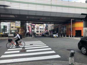 ルシアクリニック心斎橋アクセス交差点