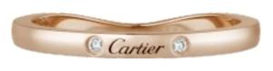 カルティエバレリーナ結婚指輪ピンクゴールドダイヤあり
