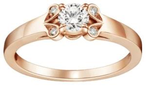 カルティエバレリーナ婚約指輪ピンクゴールドダイヤあり