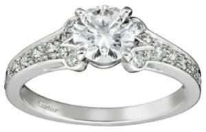 カルティエバレリーナ婚約指輪プラチナダイヤあり