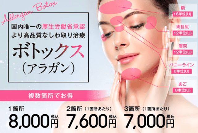 ボトックスを東京で アラガンが安いのは湘南美容クリニック
